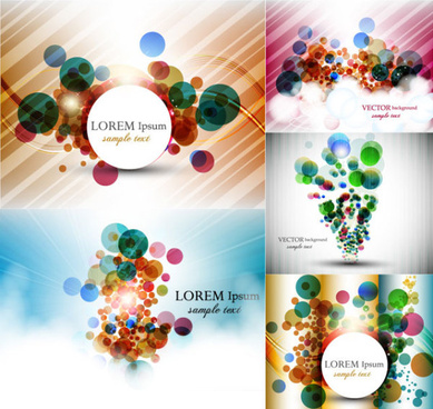 abstract colored dots background vector graphic