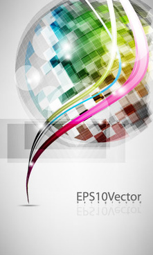 abstract colored dream background 1 vector graphic