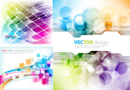 abstract colored fantasy background vector