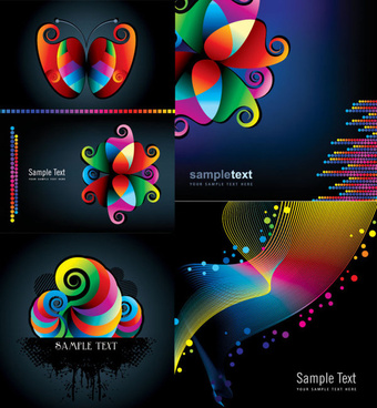 abstract colored graphics background vector graphic