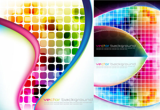 abstract colored grid background vector