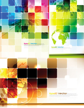 abstract colored lattice background