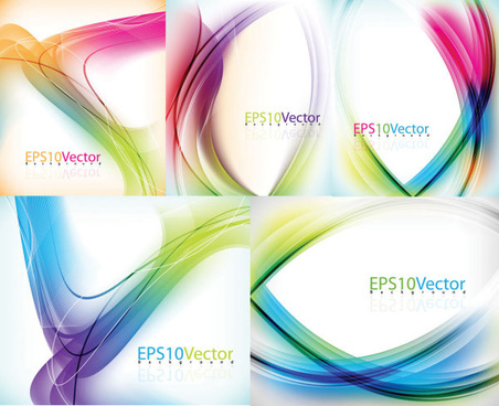 abstract colored line background vector graphic