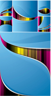abstract colored line backgrounds vector graphic