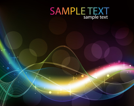 abstract colored wave line vector background