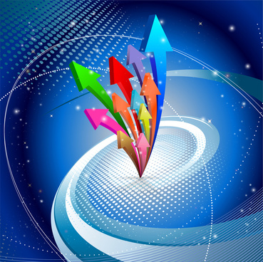 abstract colorful arrow up background