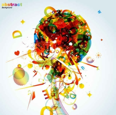 Abstract colorful background elements