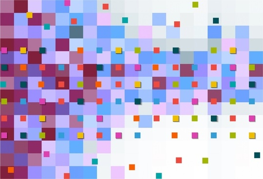 abstract colorful background various sizes squares style
