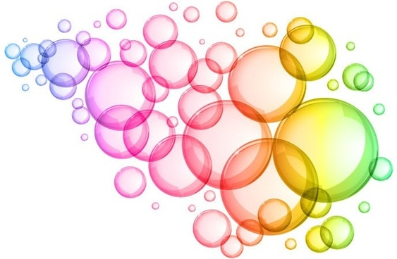 abstract colorful bubbles background vector graphic