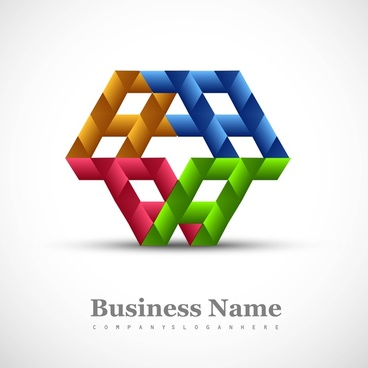 abstract colorful business icon stylized symbol vector design