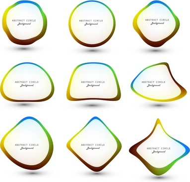 abstract colorful circle for speech bubbles vector