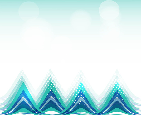 abstract colorful fantastic wave