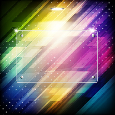 abstract colorful glass frame background
