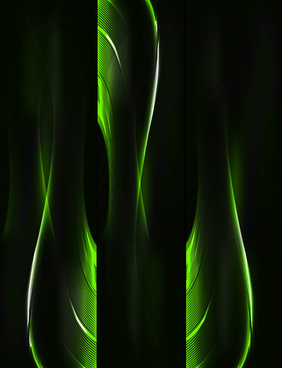 abstract colorful green header wave illustration
