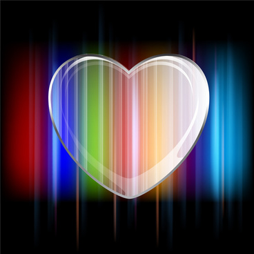 abstract colorful heart shape background