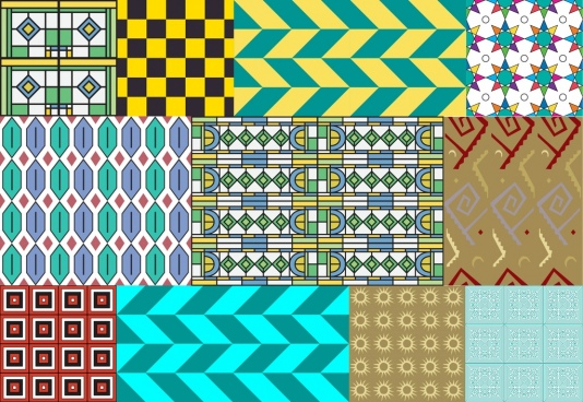 abstract colorful pattern various types combination