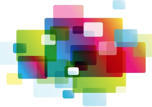 abstract colorful rounded rectangle background vector