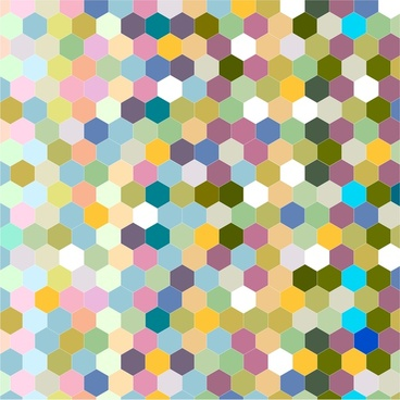 abstract colorful seamless hexagon background design