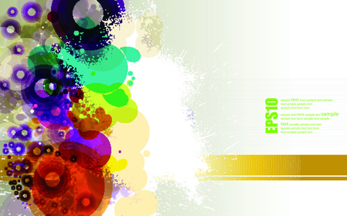 abstract colorful spots vector background