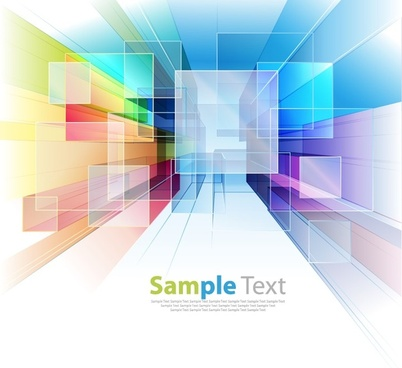 abstract colorful tech background vector illustration