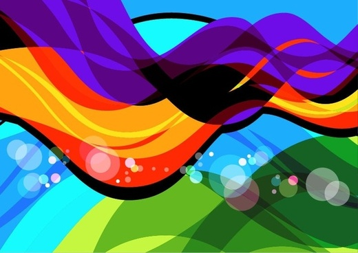 Abstract Colorful Wave Art Vector