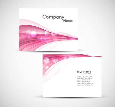 abstract colorful wave business card set