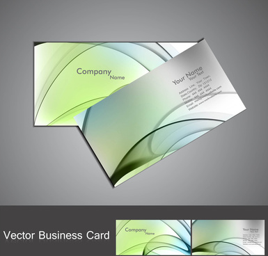 abstract colorful wave business card set design vector