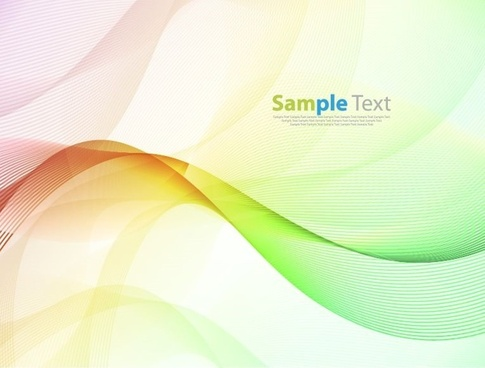abstract colorful wave design background vector illustration