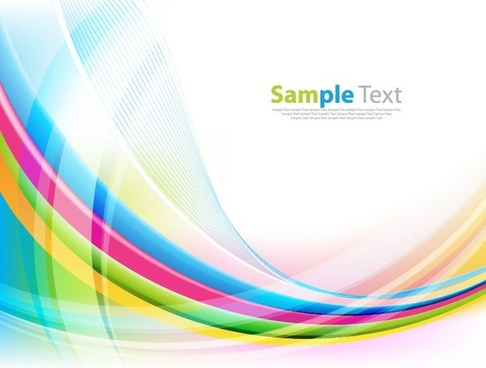 Abstract Colorful Rainbow Life Background Design Free Vector