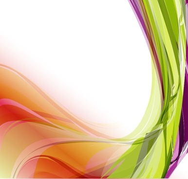Abstract Colorful Wavy Vector Background