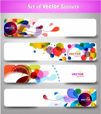 Abstract colorful web headers.