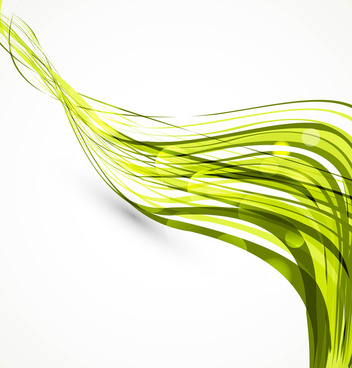 abstract colorfull green wire line technology wave vector