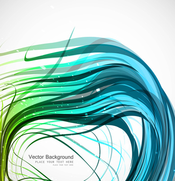 abstract colorfull wire line wave vector illustration