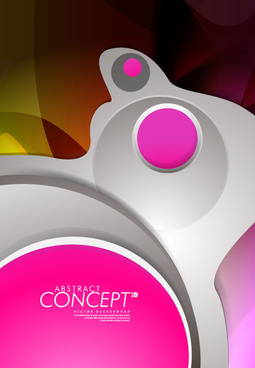 abstract concept brochure cover background vector