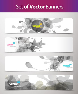 abstract creative banner free vector