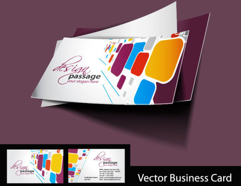 abstract creative business cards vector set