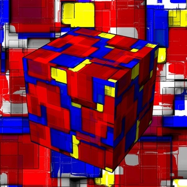 abstract cube art
