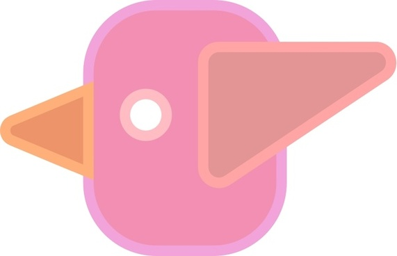 Abstract cute simple cartoon bird
