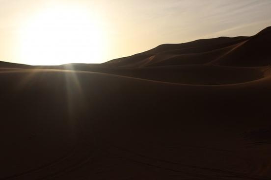 abstract desert desolate dunes evening fine art fog