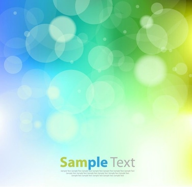 abstract design blue green bokeh background vector