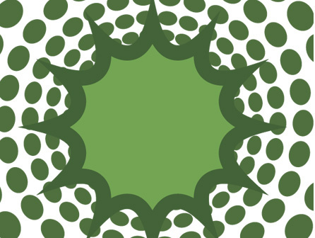 abstract dots burst vector