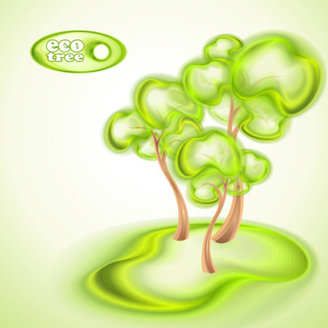 abstract eco tree vector background