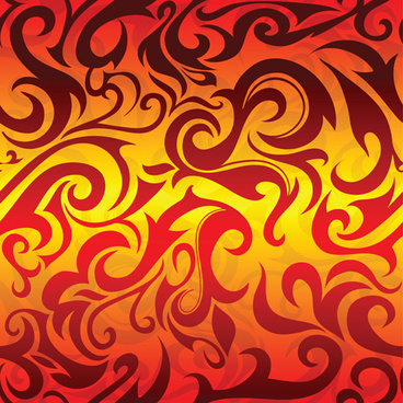 abstract fire ornaments backgrounds vectro