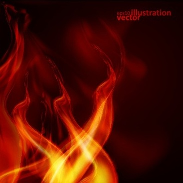 abstract flame illustration vector