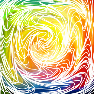 abstract flow line vector