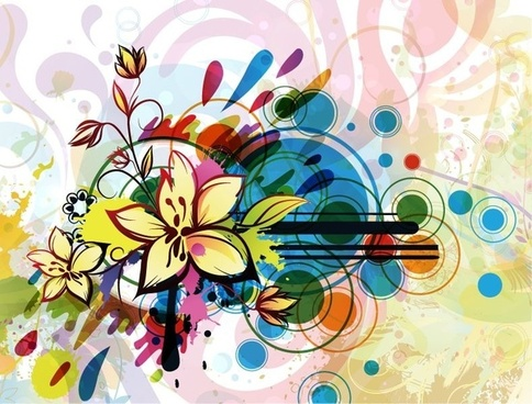 Abstract Flower Background Vector