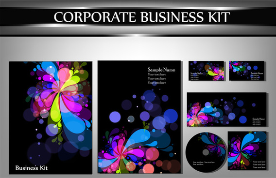 abstract flower corporate identity template