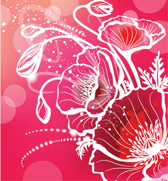 Abstract flower free vector