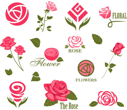 abstract flower logos creative vector