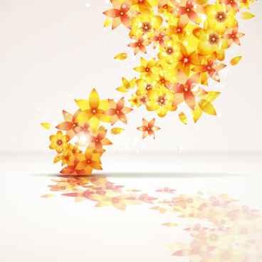 abstract flowers creative vector